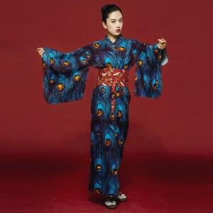 Женское японское традиционное кимоно юката, банный халат, платье с цветком Obi, винтажное вечернее платье, карнавальный костюм гейши H9019