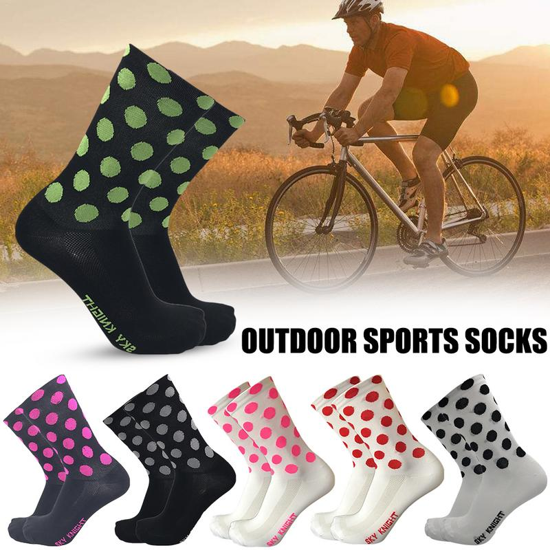 Professional Point Cycling Riding Socks Outdoor Sports Basketball Socks Compression Wave Socks For Men And Women Size 39 45 in Cycling Socks from Sports Entertainment