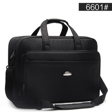 ขนาดใหญ่ชาย 17 นิ้ว Briefcases กระเป๋าสีดำผู้ชายกันน้ำคอมพิวเตอร์แล็ปท็อปกระเป๋าเอกสารกระเป๋าเดินทางไหล่กระเป๋า