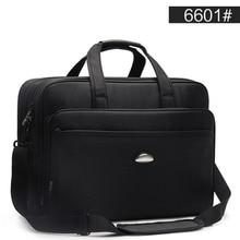 Büyük kapasiteli iş erkekler 17 inç evrak çantası siyah çanta erkek su geçirmez bilgisayar dizüstü evrak çantası erkek seyahat omuz çantası