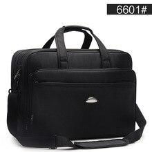 Duża pojemność Business Men 17 cali teczki czarne torby męski wodoodporny komputer teczka na laptopa mężczyzna torba podróżna na ramię