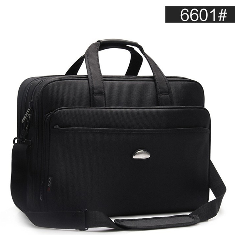 Large Capacity Business Men 17 Inches Briefcases Black Bags Men's Waterproof Computer Laptop Briefcase Male Travel Shoulder Bag