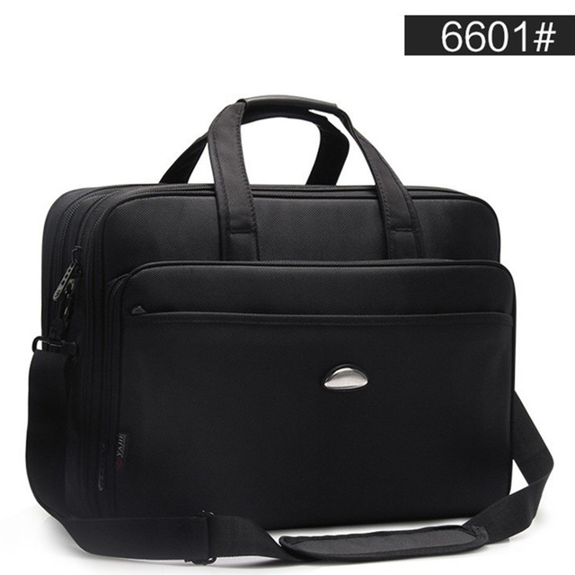Large Capacity Business Men 17 Inches Briefcases Black Bags Mens Waterproof Computer Laptop Briefcase Male Travel Shoulder Bag