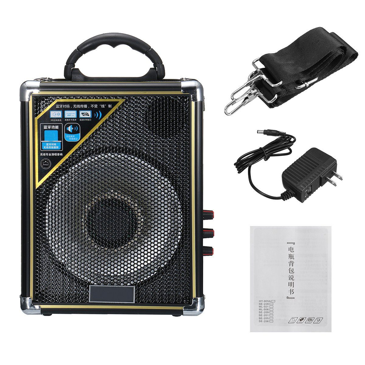 Outdoor Portable Bluetooth Speaker LED Light Rechargeable Audio Player USB Play Radio Stereo Stage Dance Speaker SubwooferOutdoor Portable Bluetooth Speaker LED Light Rechargeable Audio Player USB Play Radio Stereo Stage Dance Speaker Subwoofer