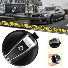 Авто фар переключатель для BMW 1 E88 E82 3 E90 E91 X1 E84 головы потолочная лампа с ИК датчиком-выключателем Управление Konb Кнопка Chrome