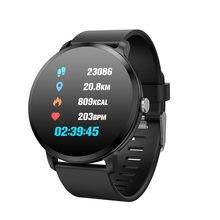 Akıllı saat V11 Spor Parça Kalp Hızı Kan Basıncı Uyku Monitör Titreşim akıllı bilezik IP67 Su Geçirmez Spor Izci
