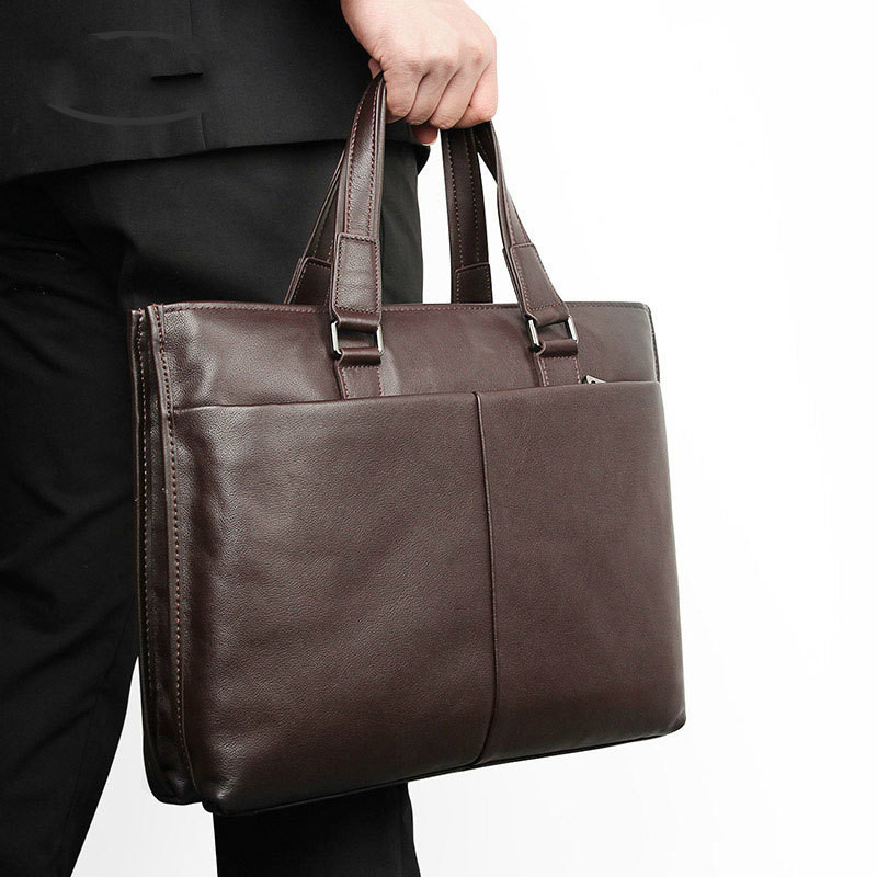 Genuine Leather Men Handbag 13