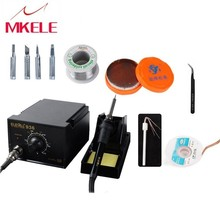 936 Soldering Station set +rosin soldering Wire tweezer Anti static Electric Iron Welding 220V/110V for choose solder iron 110v hakko esd safe 936 soldering station 907 soldering handle heating element hakko936 welding soldering machine