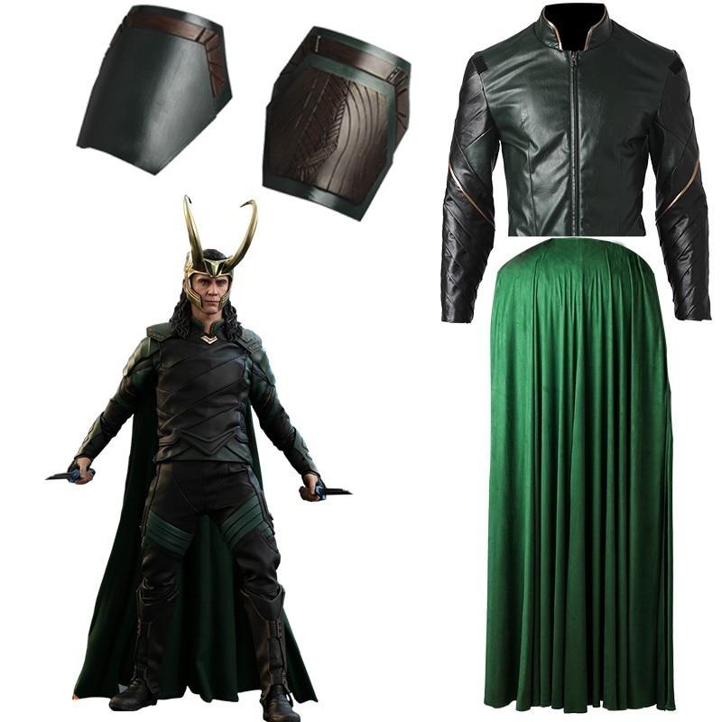 Thor Ragnarok Loki Laufeyson Men Green Armor Suit Cosplay Costume Custom Made Unisex Fancy Dresses