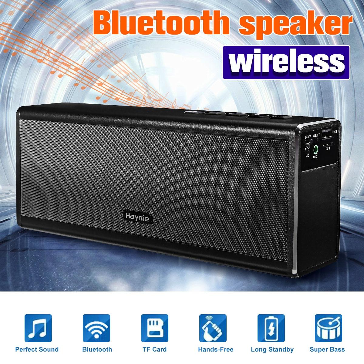 купить 20W 4400mah Power Bank Metal Bluetooth Speaker Portable Super Bass Wireless Car HIFI Speaker Loudspeaker Handfree for Phone по цене 2507.07 рублей