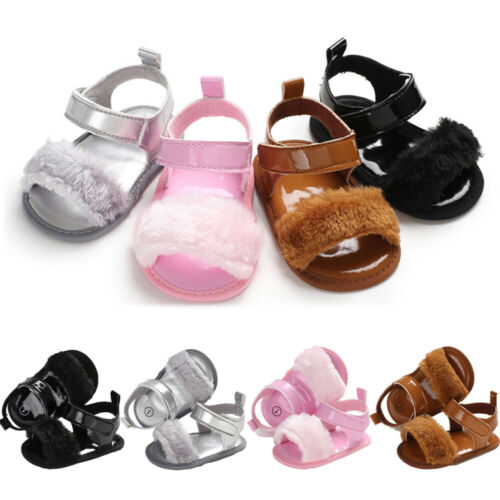 Baby Casual Shoes  Puffer Ball New Fashion Baby Girl Soft Sole Small Fluff Sandals Infant Casual Shoes 0-18M