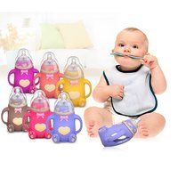 240ml Newborn Baby Bottle Silicone Free BPA 3month Baby Accessory Feeding Drinking Milk Bottle Cup for Infant Toddler
