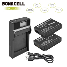 Bonacell 1300mAh DMW-BCG10 DMW BCG10 BCG10E Camera Battery+LCD Charger For Panasonic Lumix DMC-3D1 DMC-TZ7 DMC-TZ8 DMC-TZ10 L10 dste dmw bcf10gk bcf10e bcf10 s009e battery charger for dmc ft1 ft3 ts3 fs4 fs6 fs7 camera