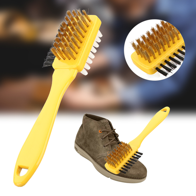 1pc 3 in 1 Clean Scrubber Cleaning Brush & Rubber Eraser Set Shoe Brush Handbag Brushes Suede Nubuck Shoes Boot Cleaner