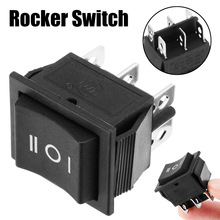 1pc 6 Pin 3 Position Hoist Boat ON-OFF-ON Momentary Rocker Switch DPDT 16A 250V Mayitr 32*31*25mm