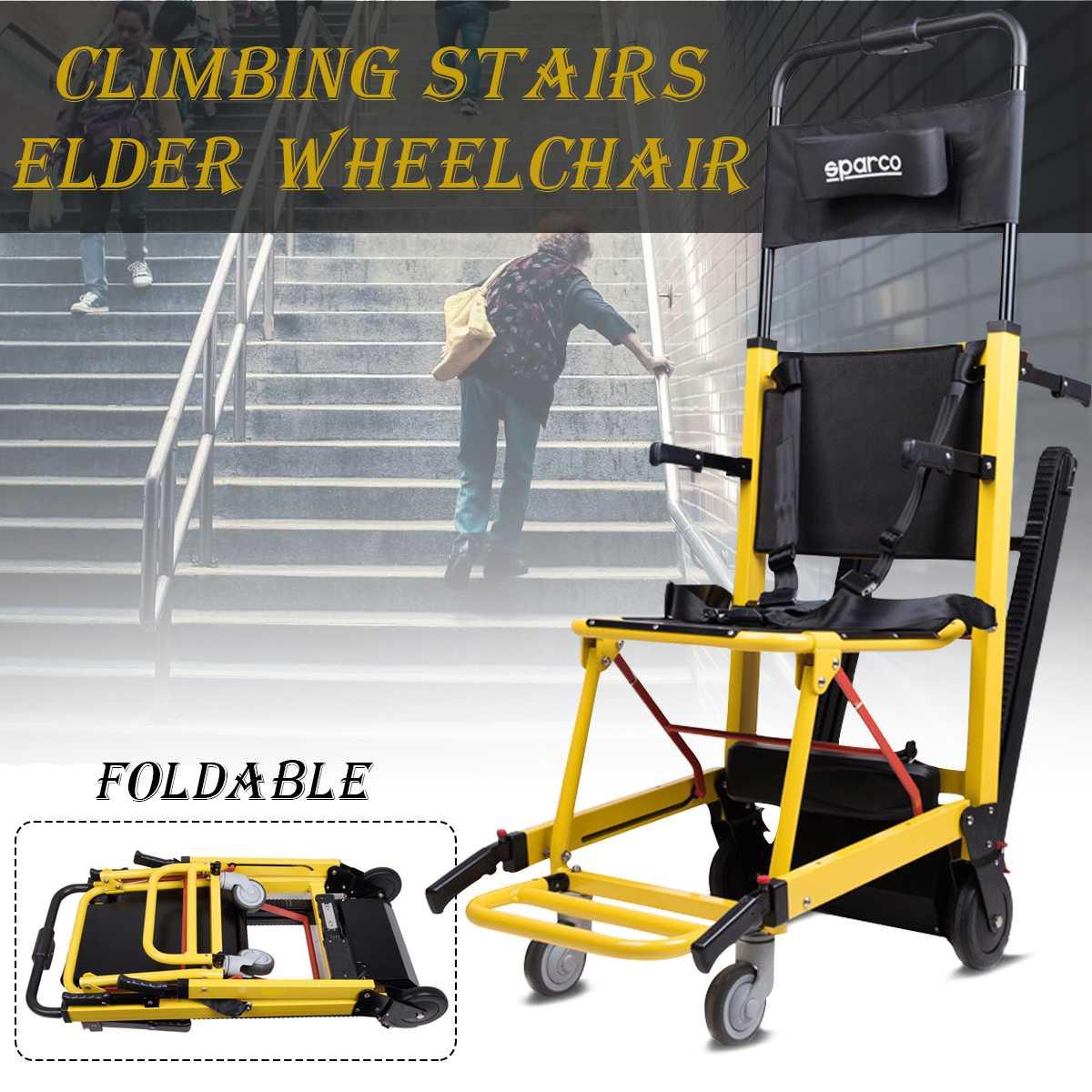Складной легкая инвалидная коляска для старшего инвалидов старейшина моторизованный восхождение подъемный стул Лифт кресло коляскы до Ле