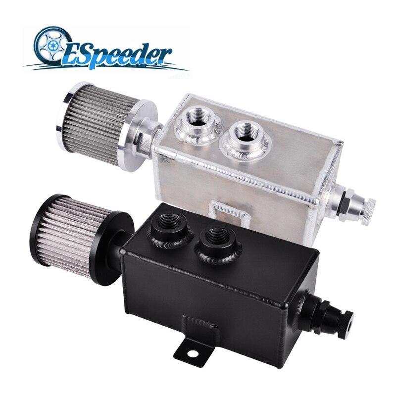 Bouchon d'huile de réservoir de carburant en aluminium de billette universelle 3L de packet eder avec le robinet de vidange de filtre de busther moteur de course déflecteur 3LT