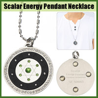 489dccca6619 Energy Power Pendant Scalar Quantum Necklace Emf Protection Bio Science  Balance Stainless Steel Silver Pendant Necklace