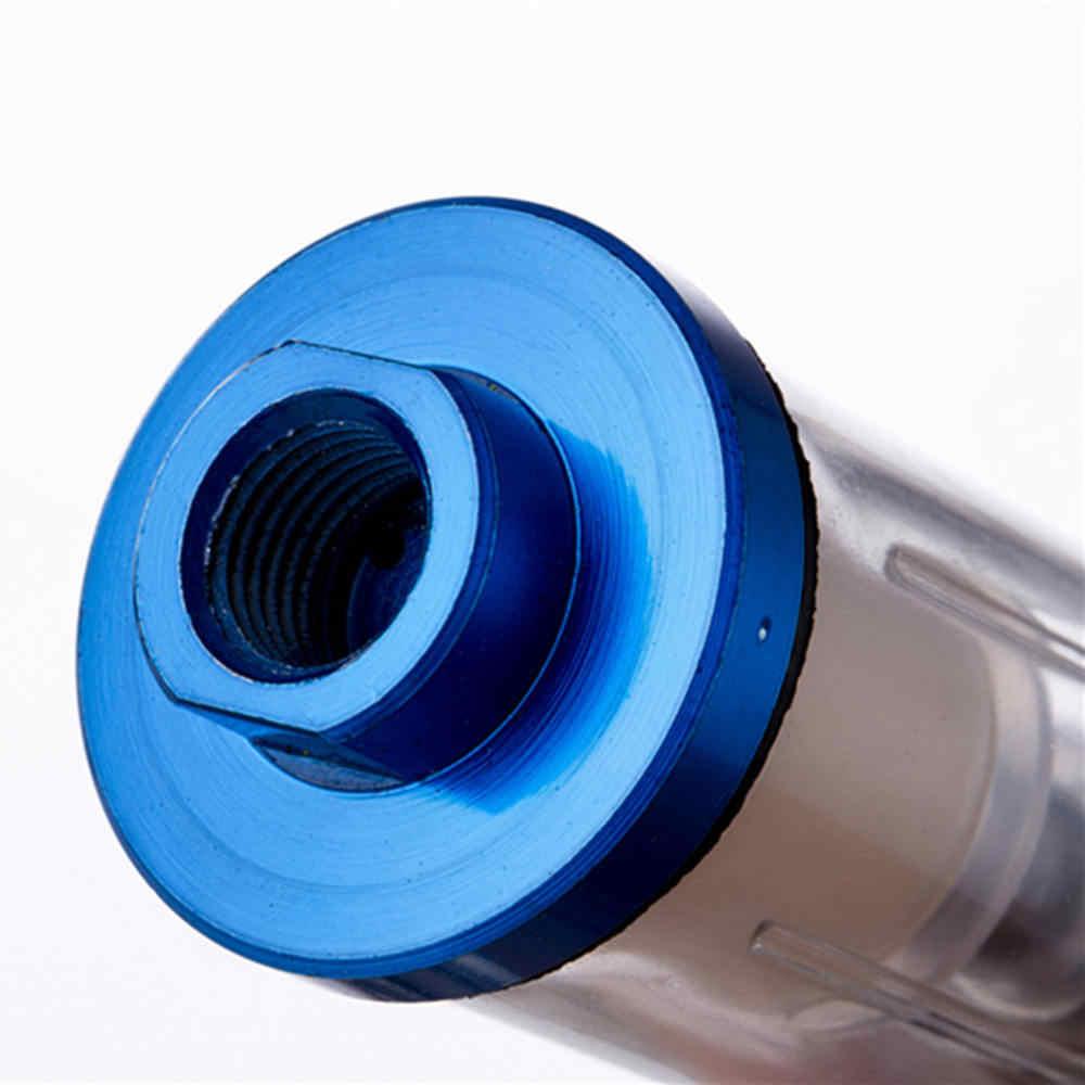 """1/4 """"масляный воздушный фильтр сепаратора для воды подходит компрессор спрей инструмент фильтр масляный сепаратор воды + мужской разъем + гнездовой разъем"""