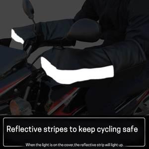 Image 3 - Pair Leather Motorbike Scooter Handlebar Gloves Waterproof Bike Handle Bar Gloves Hand Fur Muffs Glove Mitts Winter Warm