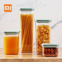 MI,Xiaomi Youpin BergHOFF Food Storage Tank 2.4L Kitchen Seal Pot Food Cans Moistureproof Fresh Storage Box Jar Sealed Can 35