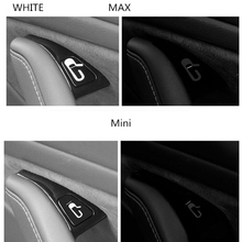 8pcs/Set Car Door Open Exit Sticker Decal For Tesla Model 3 Interior Decoration Button Reminder Switch Handle
