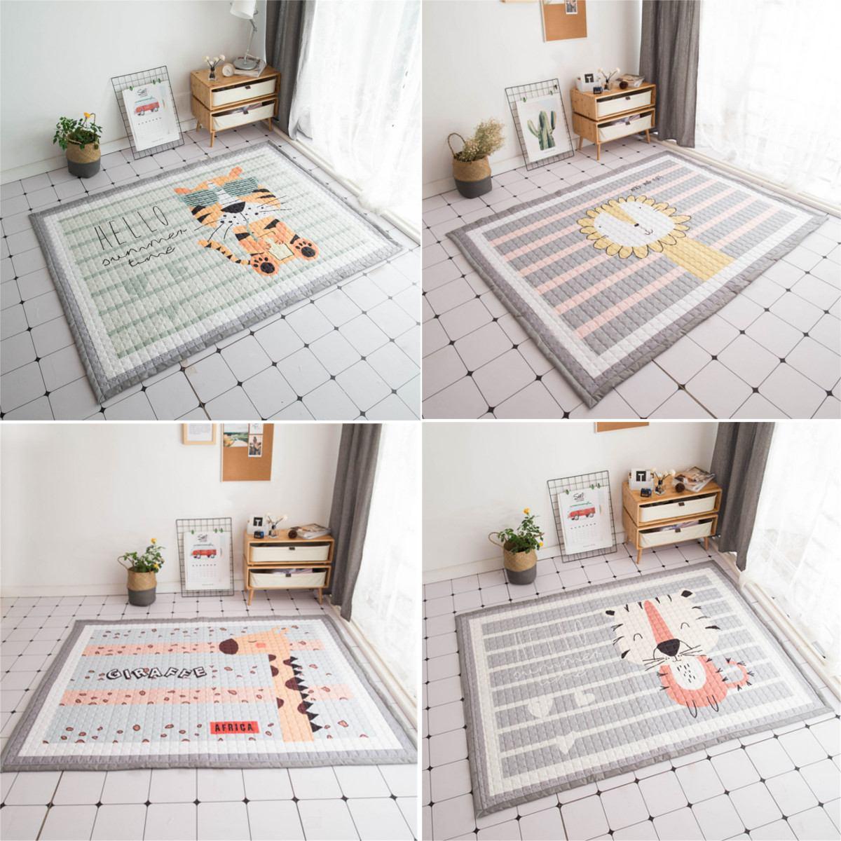 Polyester bébé enfants tapis de jeu activité jeu ramper tapis tapis 195X145 cm tapis antidérapant bébé pépinière salle de jeux décoration cadeaux