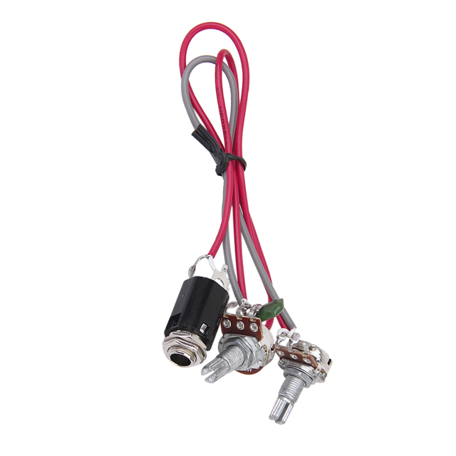 US $4 36 20% OFF|Artec Guitar Passive Volume And Tone Control Wiring  Harness W 6 3mm Input Socket-in Guitar Parts & Accessories from Sports &