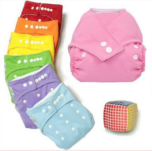 10 Pcs/Lot Baby Diaper One-Size Adjustable Washable Cloth Diaper Nappy Urine Pants For 3-12KG