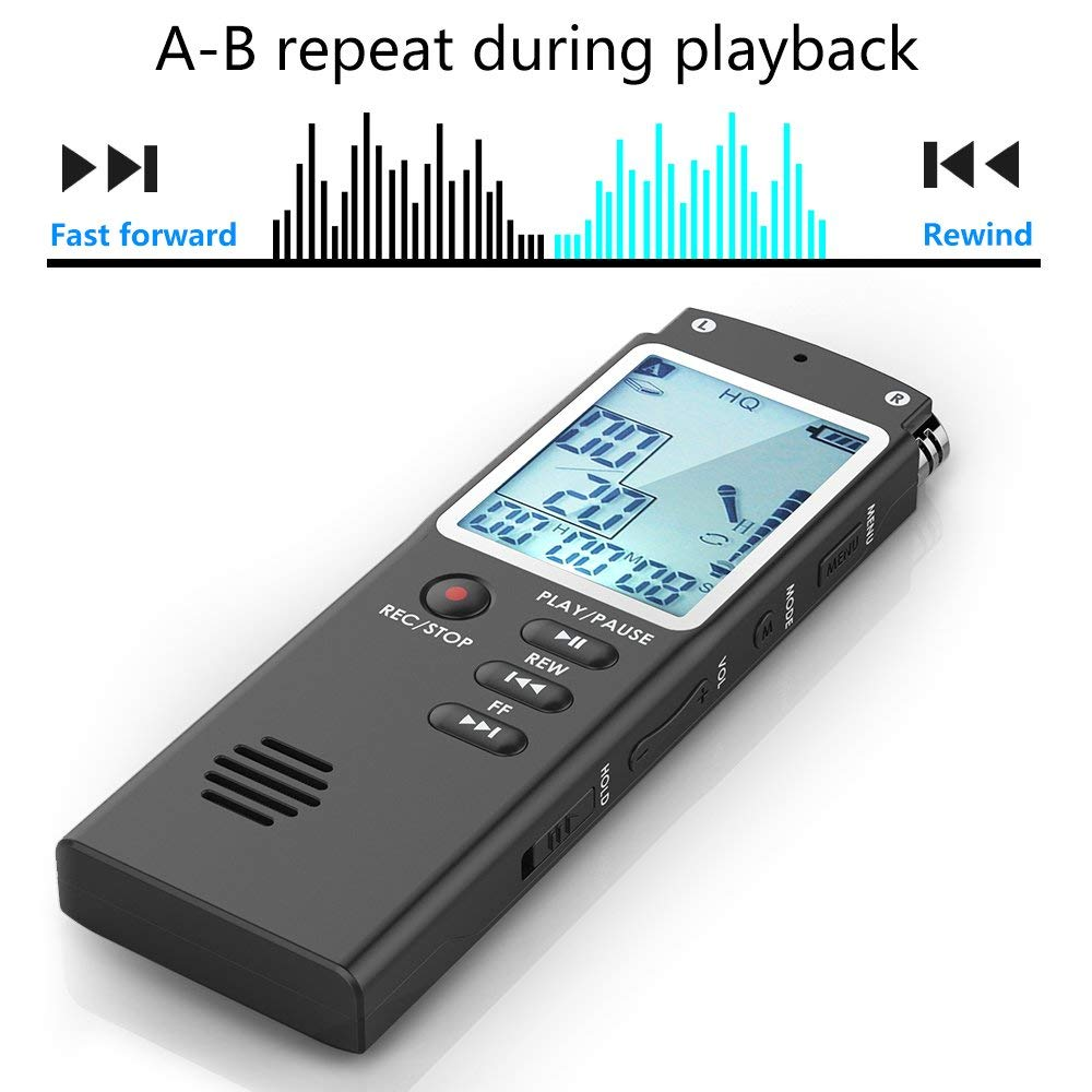 Tragbares Audio & Video Liefern Tragbare Digitale Voice Recorder 8 Gb/16 Gb/32 Gb Aktiviert Audio Recorder Mp3 Wav Professional High Definition Recorder Stimme Mini Digital Voice Recorder