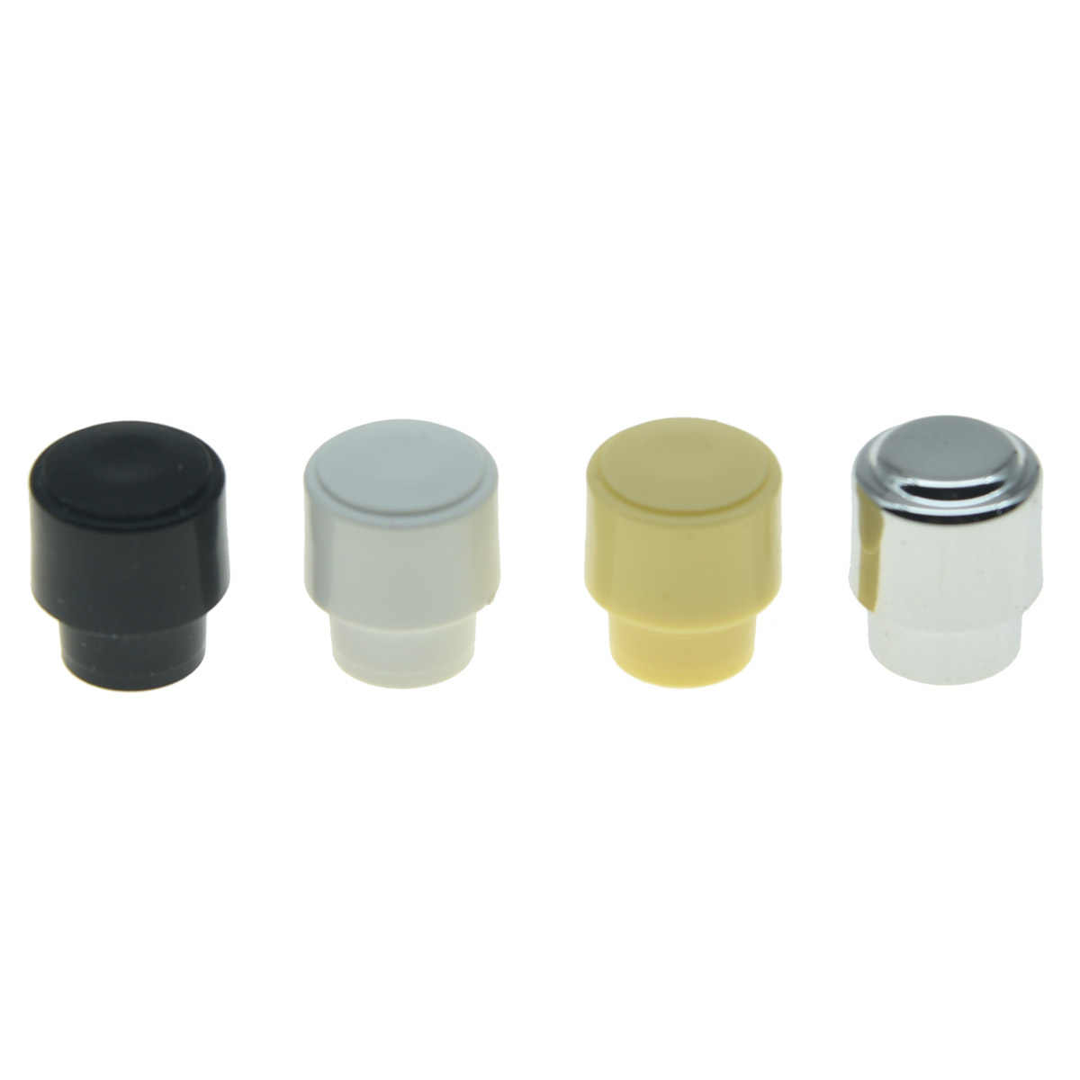 KAISH Pack of 2 Barrel Switch Tip 3 Way or 4 Way Pickup Selector Switch Knobs for U.S. Tele/Telecaster Black/Ivory/White