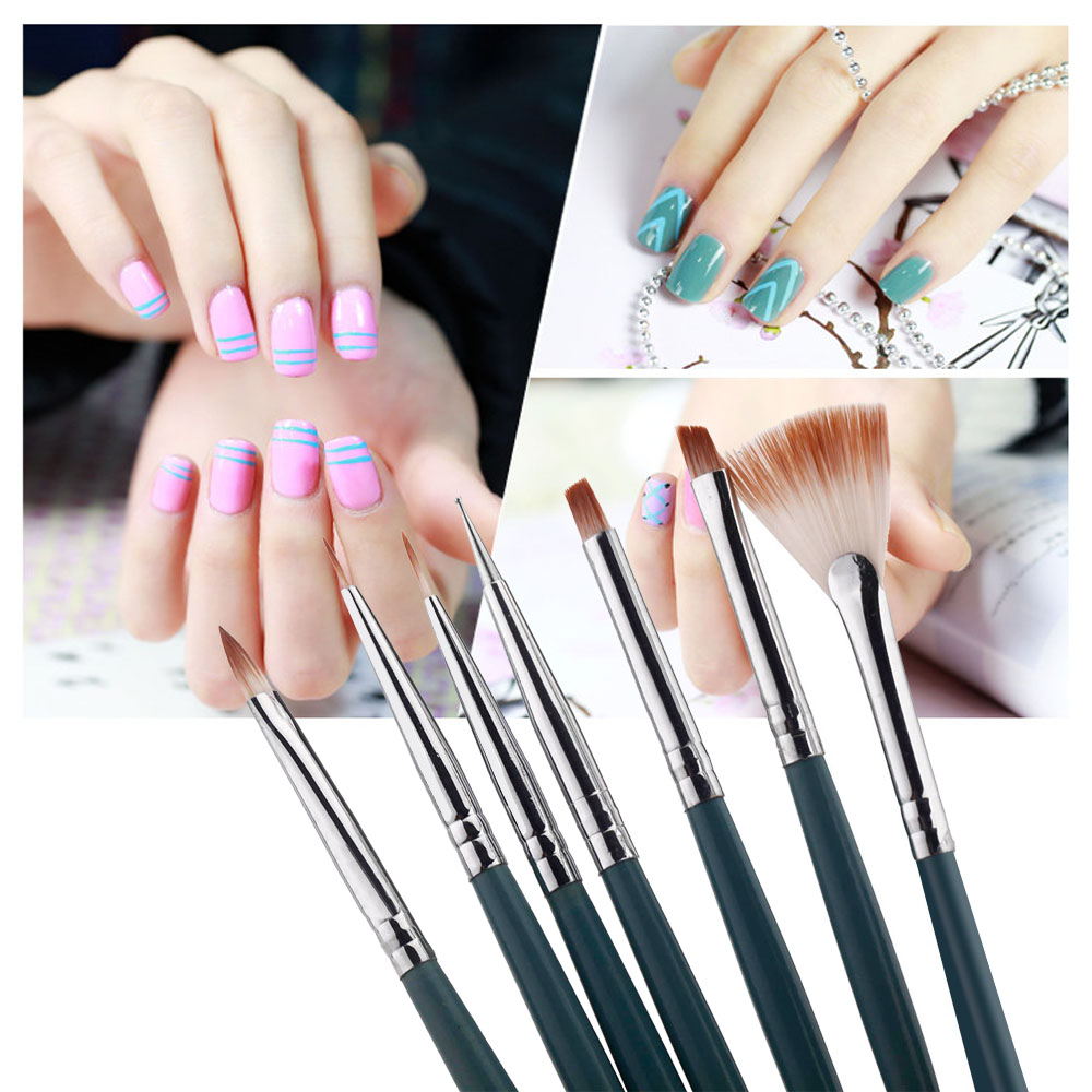 7pcs Set Diy Nail Art Brushes Professional Design Painting Pen Brush Tool Polish Uv Gel In From Beauty Health On