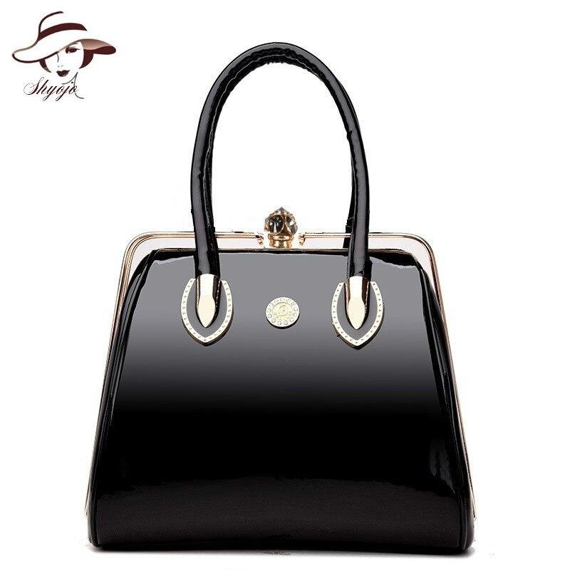 daadff0a0c9486 Luxury Handbags Vintage Soft Patent Leather Women Bags Fashion Brand  Designer Ladies Large Shoulder Messenger Crossbody