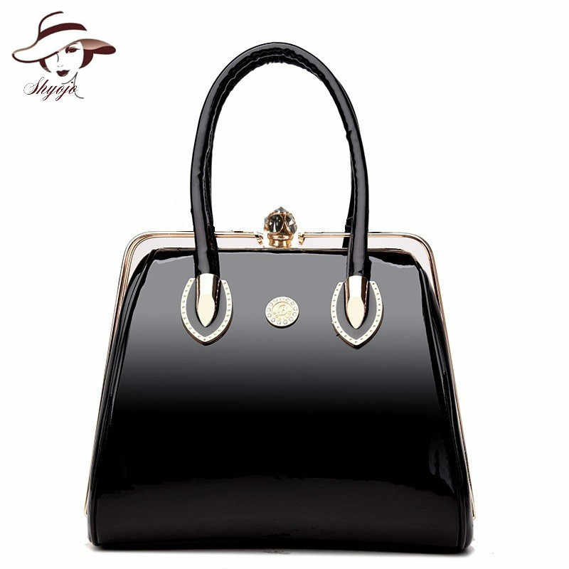 Luxury Handbags Vintage Soft Patent Leather Women Bags Fashion Brand  Designer Ladies Large Shoulder Messenger Crossbody 30fb6fb72f94f