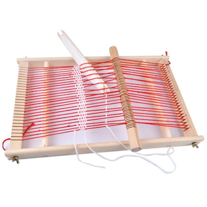 Image 4 - Diy の伝統的な教育耐久性のある編機手芸ギフト子供木製フレーム簡単操作おもちゃ織機
