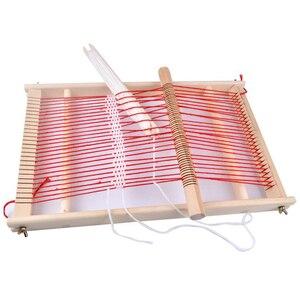 Image 4 - Máquina de tejer duradera educativa tradicional para montar, regalo artesanal, marco de madera para niños, telar tejido de juguete fácil de operar