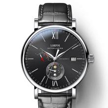 LOBINNI Switzerland Luxury Brand Men Watches Automatic Mechanical Movement Mens Clock Sapphire Genuine Leather relogio L6860-4