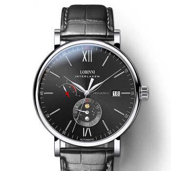 LOBINNI Switzerland Luxury Brand Men Watches Automatic Mechanical Movement Men's Clock Sapphire Genuine Leather relogio L6860-4 - DISCOUNT ITEM  49% OFF All Category