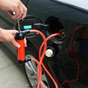 Image 2 - Nowa ręczna syfon pompa oleju paliwa benzyna Diesel woda syfon transferu powietrza zestaw