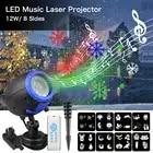 Natal LED Speaker Music Player IP65 Luz Do Estágio com Controle Remoto Projetor Laser Ao Ar Livre À Prova D' Água Do Gramado para Jardim gramado