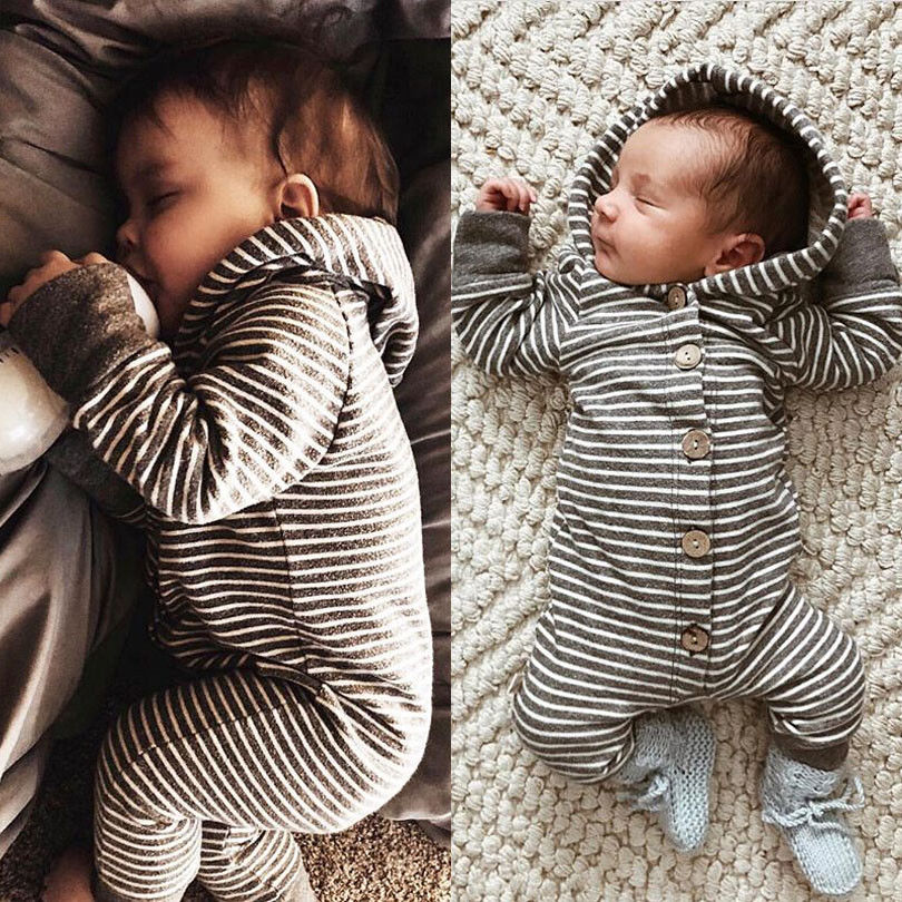 Pudcoco Casual Newborn Baby Boy Girl Kids   Romper   Baby Clothes Jumpsuit Hooded Ropa Bebe Clothes Outfit