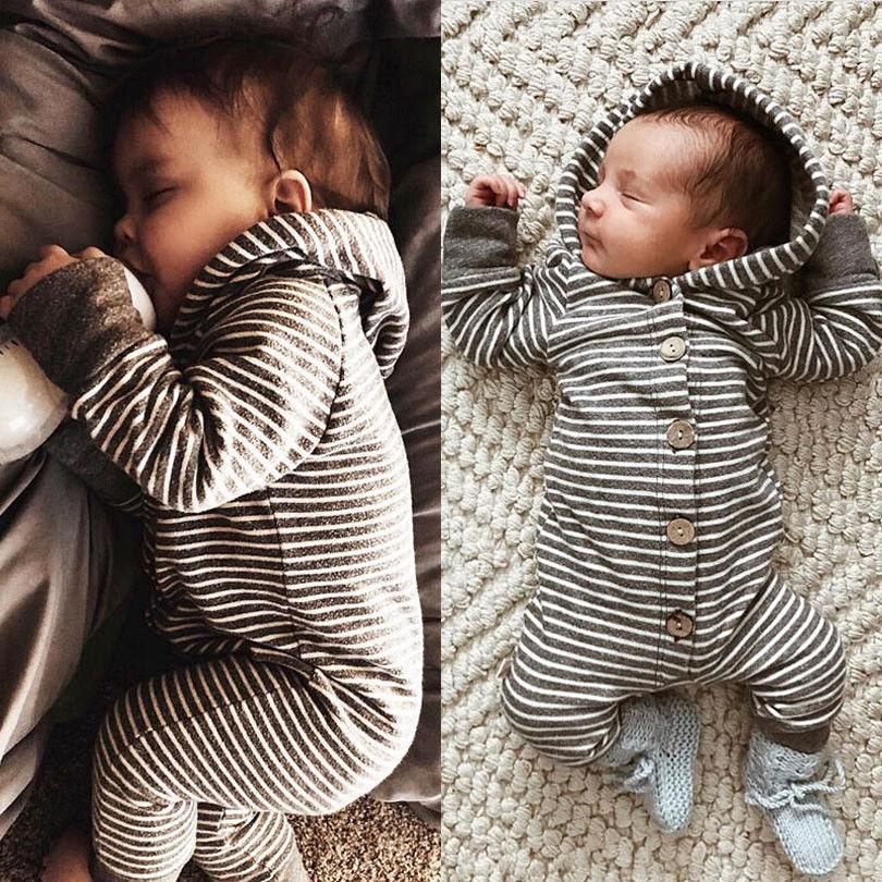 Pudcoco casual bebê recém-nascido da menina do menino crianças macacão roupas de bebê com capuz ropa bebe roupa