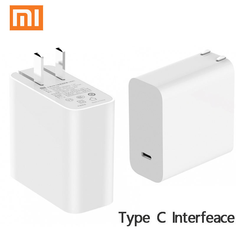 Original Xiaomi USB-C 45W 65W Quick Charger Output Type C Port USB PD 2.0 QC 3.0 Power Adapter Mi Laptop Air 13.3 12.5 Pro 15.6