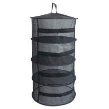 Promotion! Black Herb Drying Net with Zippers Dryer Mesh Tray Rack Flowers Buds