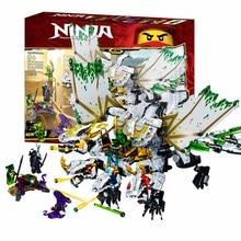 1100 шт. Ninja mirage ultimate dragon complex, совместимые с ninjagoes, строительные блоки, кирпичи, игрушки; фигурки героев, игрушки, подарки