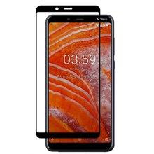 3D dla Nokia 3.1 Plus pełna hartowana obudowa szklany ochraniacz ekranu film 6 cali 9H Film bezpieczeństwa na 3.1 + 3.1 Plus TA 1118 Nokia3.1