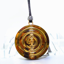 Crystal Chakra Orgonite Energy Pendant Aura Crystal Necklace Women's Resin Decorative Craft Jewelry Gather Wealth Transport