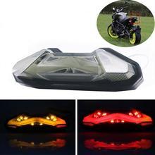Мотоцикл задний фонарь светодио дный задний фонарь поворотник сигнал светодио дный тормоза светодиодный свет Интегрированный задний фонарь для YAMAHA MT-09 FZ09 13-17