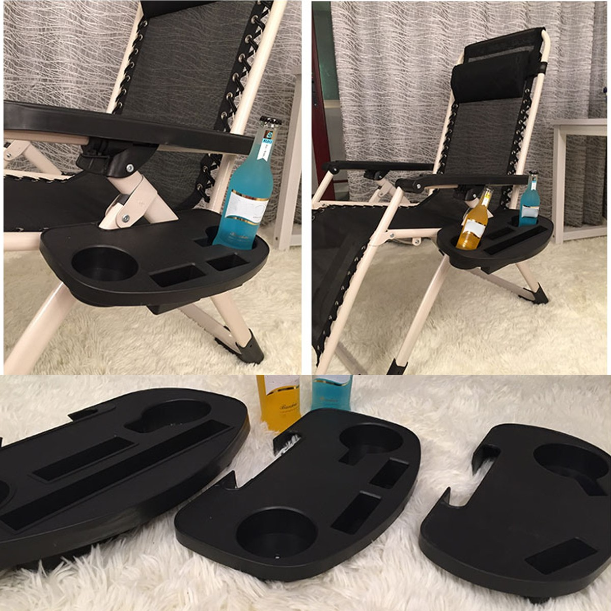 Fishing Chair Drink Cup Can Bottle Holder Chair Side Table Tray Outdoor Camping Beach Chair Water Cup Holder