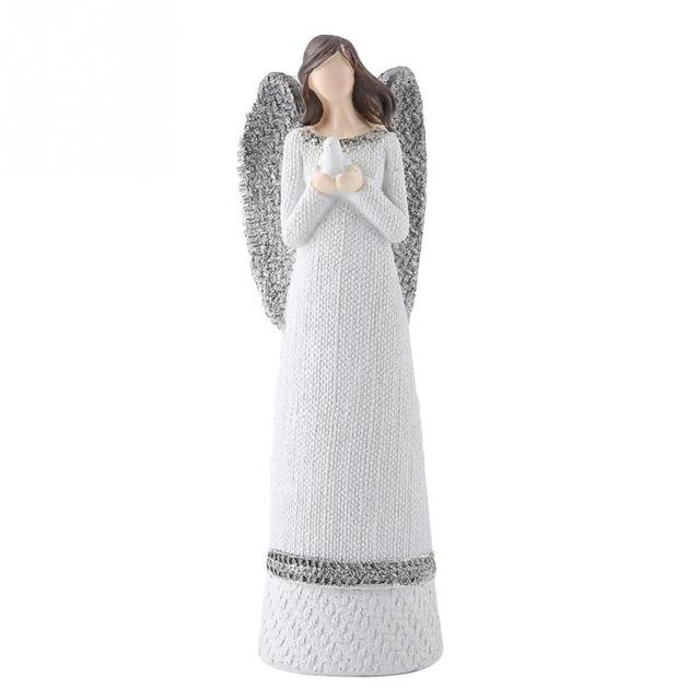 Resin Figures 20cm Resin White Beauty Sculpted Figure Table Ornaments Hand-painted Angel Figurine Home Decoration Accessories 2